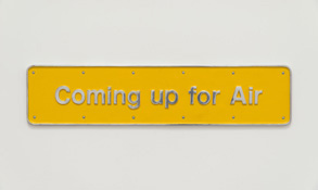Darren Almond <i>Coming up for Air</i> 2001 Cast aluminum and paint 9 x 39 1/4  x 3/4 inches; 23 x 100 x 2 cm