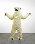Martin Honert <i>Eisbär (Polar Bear)</i> 1995 Acrylic on epoxy resin 59 x 45 x 8 inches; 150 x 114 x 20 cm