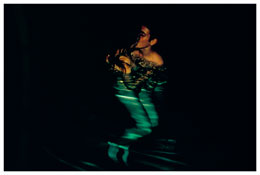 <i>Simon and Jessica kissing in the pool, Avignon</i> 2001 Cibachrome 30 x 40 inches; 76 x 102 cm