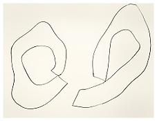 <i>Two Curved Forms</i> 1961 Graphite on paper 22 1/2 x 28 1/2 inches; 57 x 72 cm