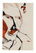 Lucian Freud <I>Stephen Spender</i> 1940 Ink on paper 8 1/2 x 5 3/4 inches; 22 x 15 cm
