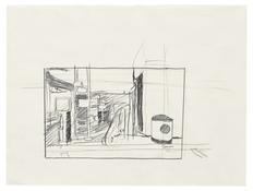 <I>Study for Texaco (Right Side of Painting)</i> 1996 Graphite on vellum  9 x 12 inches; 23 x 31 cm