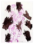 <i>Untitled</i> 4 February 1991 Watercolor and ink on paper 30 x 22 1/4 inches