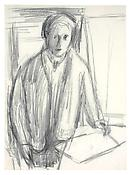 <i>Self-Portrait</i> 1949 Graphite on paper 16 1/2 x 12 1/8 inches; 42 x 31 cm