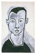 <i>Self-Portrait</i> 1949 Gouache on paper 18 3/4 x 12 1/2 inches; 48 x 32 cm