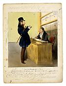 Honoré Daumier  <i>Delteil 0402: L'Agent de Change après la Bourse (The Stockbroker after the Stock Excange Session)</i> 1837 Lithograph, printed in colours 9 x 9 7/8 inches; 23 x 25 cm