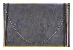 <i>Catenary (Jacob's Ladder)</i>    1999 Encaustic on canvas and wood with objects 38 x 57 1/4 x 5 1/4 inches; 97 x 145 x 13 cm JOHJ.PA.20174