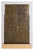 <i>Fragment of Letter</i>, verso, 2009, Bronze, 38 5/8 x 24 3/8 x 1/2 inches; 98 x 62 x 1 cm