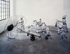 <i>Ritterschlacht / Knight's Battle</i> 2003 Polystyrene foam, epoxy resin, steel, aluminum, acrylic and plastic Installation area: 236 x 157 x 67 inches; 600 x 400 x 170 cm