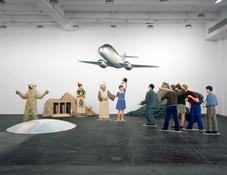 <i>A Model Scenario of the Flying Classroom</i> 1995 Acrylic on wood, polystyrene and epoxy resin Twelve elements: 157 1/2 x 236 1/4 x 157 1/2 inches; 400 x 600 x 400 cm (overall)