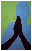 <I>Begging For It</i> 1994 Oil on panel 79 1/8 x 49 1/8 inches; 201 x 125 cm