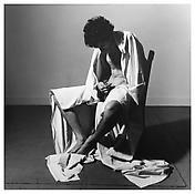 <i>Draped Male Nude</i> 1980 Gelatin-silver print 14 1/2 x 14 3/4 inches; 37 x 37 cm