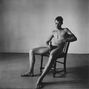 Peter Hujar <I>Bruce de Saint Croix (Seated)</i> 1976 Vintage gelatin silver print 14 1/2 x 14 5/8 inches; 37 x 37 cm