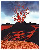 <i>Deep Heat</i> 2004 Acrylic and ink on paper 11 X 8 5/8 inches; 28 x 22 cm