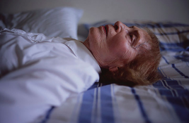 Nan Goldin <I>My mother laying on her bed, Salem, MA</i> 2005  Cibachrome  30 x 40 inches; 76 x 102 cm