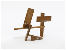 Tony Smith <i>Untitled</i> 1954 Wood 21 3/8 x 20 1/2 x 12 inches; 54 x 52 x 31 cm