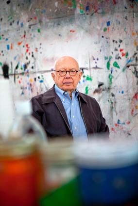 Ellsworth Kelly in his studio in Spencertown, NY. Photo by Tony Cenicola for &lt;a href=&quot;http://www.nytimes.com/2011/11/27/arts/design/ellsworth-kellys-wood-sculptures-in-boston.html&quot;&gt;The New York Times.&lt;http://www.nytimes.com/2011/11/27/arts/design/ellsworth-kellys-wood-sculptures-in-boston.html&gt; &lt;/a&gt;