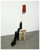 <b>Nayland Blake</b> <i>Untitled</u> 2007 Painted wood, felt, wire and buttons 52 x 15 x 15 inches; 132 x 38 x 38 cm