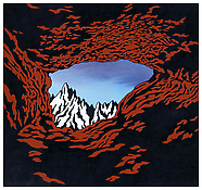<i>The Hermit's Cave in Winter</i> 2008 Acrylic and ink on paper 10 1/2 x 11 inches; 27 x 28 cm
