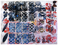 <i>Knotted Graphs/ 1</i> 2008 Oil on linen 77 x 98 inches; 196 x 249 cm