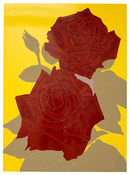 <I>Two Roses</i> 2008 Enamel paint on aluminum 60 x 44 inches; 152 x 112 cm