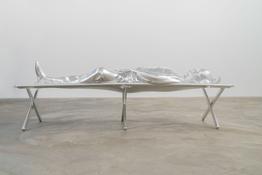 <i>Mime</i> 2014 Aluminum 25 1/2 x 77 1/4 x 29 inches; 65 x 196 x 74 cm