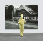 <i>Koch & 6. Foto (Schwarzwaldhaus) / Cook & Photograph 6 (Black Forest House)</i> 2006/08 Polyester, acrylic, and oil-based ink and acrylic on plastic panel Silkscreen: 110 1/4 x 147 2/3 inches; 280 x 375 cm Sculpture: 79 1/2 x 30 x 41 inches; 202 x 76 x 102 cm