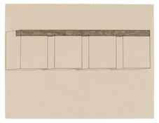 Donald Judd <i>Untitled</i> 1964 Graphite and watercolor on paper 10 5/8 x 13 7/8 inches; 27 x 35 cm