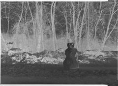 <i>Schneemann (Snowman)</i> 2009 Transparency in lightbox 19 1/4 x 26 inches; 49 x 66 cm