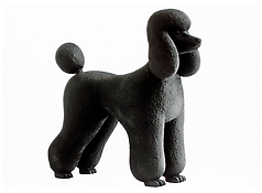 Katharina Fritsch <i>Pudel (Poodle)</i> 1995 Painted plaster 16 x 6 1/2 x 16 1/2 inches; 41 x 17 x 42 cm