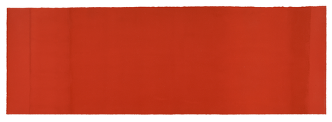 Anne Truitt <i>Untitled</i> 1967 Acrylic on paper 13 3/4 x 41 inches; 35 x 104 cm