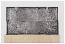 <i>0 - 9</i>, verso, 2008, Aluminum, 20 3/8 x 38 1/4 x 1 1/4 inches; 52 x 97 x 3 cm