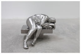<i>Sleeping woman</i> 2012 Solid stainless steel 35 1/2 x 44 1/2 x 50 inches; 90 x 113 x 127 cm