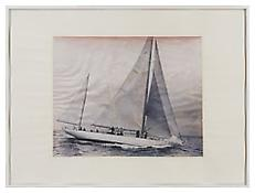 <i>Boat drawing</i>, right, 2010, Ink on paper in artist's frame, Diptych, each: 51 1/8 x 67 3/4 inches; 130 x 172 cm