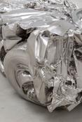 <I>Baled Truck</i> (detail) 2014 Solid stainless steel 33 x 50 x 118 inches; 84 x 129 x 298 cm