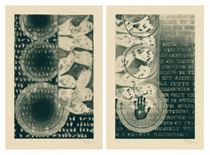 <i>Fragment of a Letter</i> 2010 Intaglio on Echizen Torinoko handmade paper, two sheets Each sheet: 44 7/8 x 30 1/2 inches; 114 x 78 cm