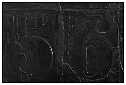 <i>0 - 9</i>, detail, 2008, White bronze, 20 1/4 x 38 1/4 x 1 5/16 inches; 51 x 97 x 3 cm