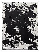 <i>Untitled (short cuts)</i>, 2010, Ink on paper in artist's frame, 94 3/4 x 71 1/4 inches; 241 x 181 cm