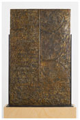 <i>Fragment of a Letter</i> (verso) 2009 Bronze 38 5/8 x 24 3/8 x 1/2 inches; 98 x 62 x 1 cm