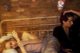 Nan Goldin <I>Greer and Robert on the bed, NYC</i> 1982 Cibachrome 16 x 20 inches; 41 x 51 cm