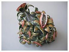 Chris Garofalo, <i>Xanthophyll Turitellidae</i>, 2010, Glazed porcelain, 8 1/2 x 7 1/2 x 7 1/2 inches; 22 x 19 x 19 cm