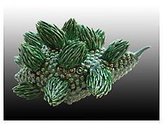 Chris Garofalo, <i>Sigillaria Cephaloculus</i>, 2009, Glazed porcelain, 8 1/2 x 7 1/2 x 4 1/2 inches; 22 x 19 x 11 cm