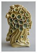 Chris Garofalo, <i>Fulvus Pleaurotus Eryngii</i>, 2009, Glazed porcelain, 5 1/2 x 5 1/2 x 10 inches; 14 x 14 x 25 cm