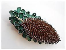 Chris Garofalo, <i>Cycadale Ferric</i>, 2007, Glazed porcelain, 9 x 4 x 4 1/2 inches; 23 x 10 x 11 cm