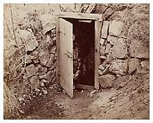 August Kotzsch, <i>Tür zu Kotzschs Schöpfbrunnen (Door of Kotzsch's Wellhouse)</i>, ca. 1870, Albumen print, 6 1/4 x 7 3/4 inches; 16 x 20 cm