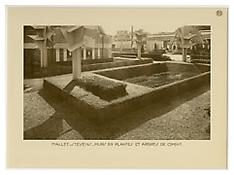 Jan and Joël Martel / Robert Mallet-Stevens, <i>Murs en plantes et Arbres en ciment</i>, 1925, Sepia-toned photograph, 9 3/4 x 13 inches; 25 x 33 cm, Exhibition print