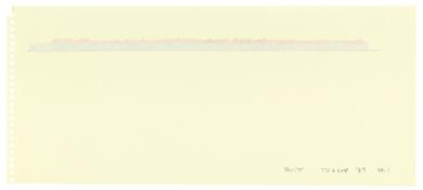 <i>Tucson '87 No. 1 - No. 6</i> 1987 Acrylic and graphite on paper, six sheets No. 1: 5 1/4 x 12 inches; 13 x 31 cm