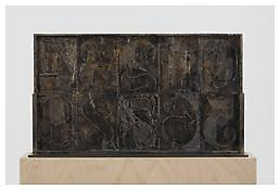 <i>0 - 9</i>, verso, 2010, Bronze, 14 7/16 x 25 5/16 x 1 inches; 37 x 64 x 3 cm