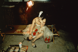 Nan Goldin <I>Trixie on the cot, NYC</i> 1979 Cibachrome 16 x 20 inches; 41 x 51 cm