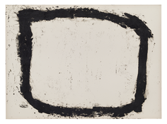 Richard Serra <i>Forged Rounds II</i> 1993 Paintstick on paper 44 x 66 inches; 112 x 168 cm